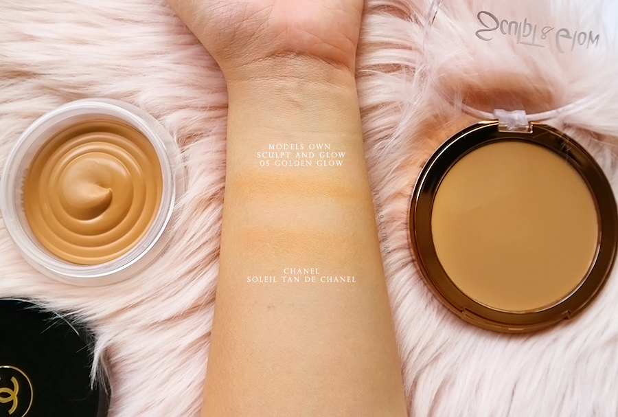 Chanel soleil tan de chanel vs models own sculpt and glow bronzer swatches