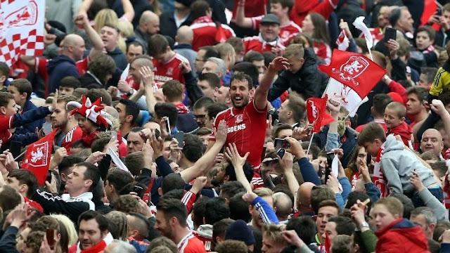 Middlesbrough win promotion to Premier League