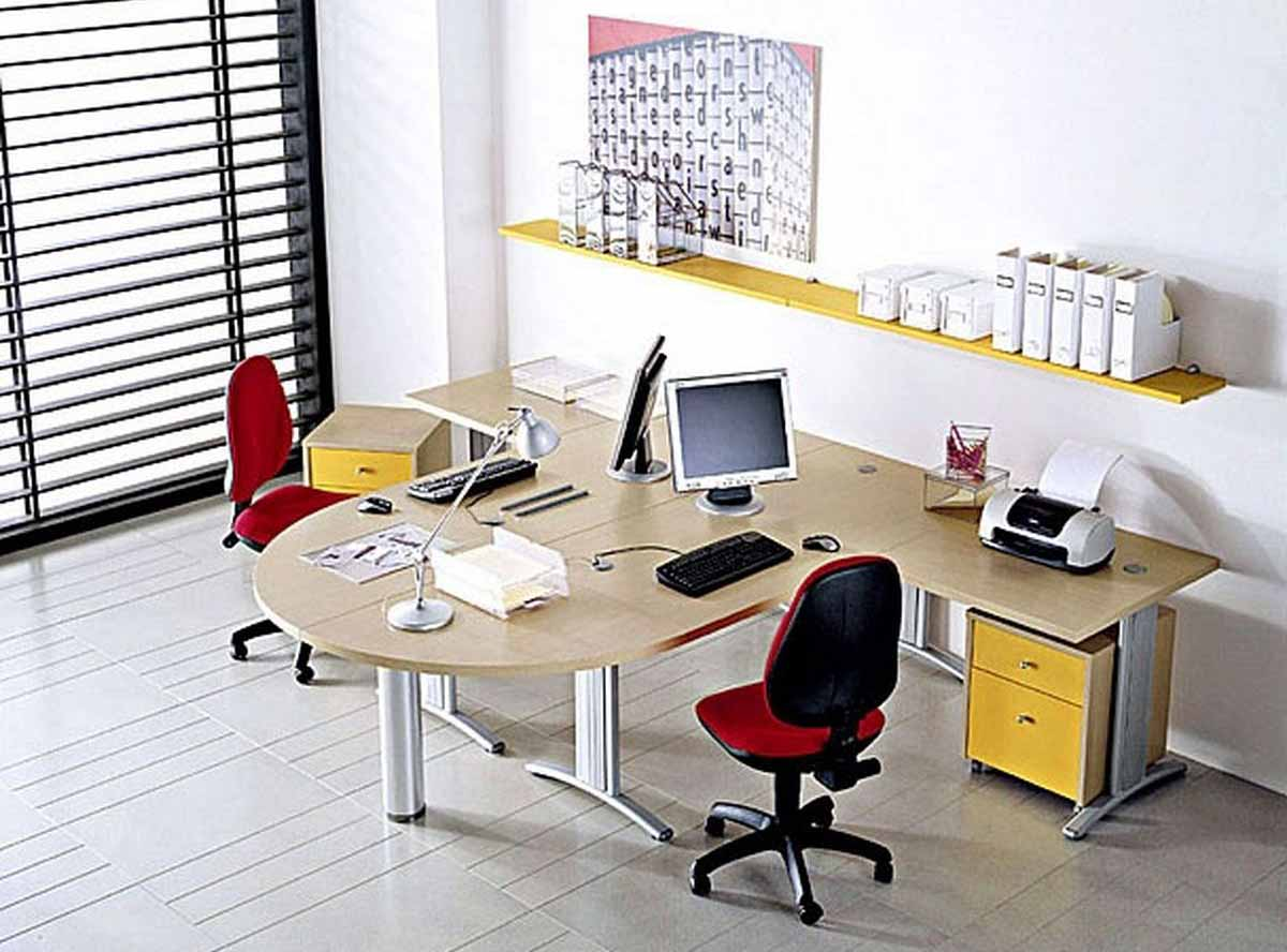 25 desain interior kantor minimalis modern yang indah for Small work office decorating ideas