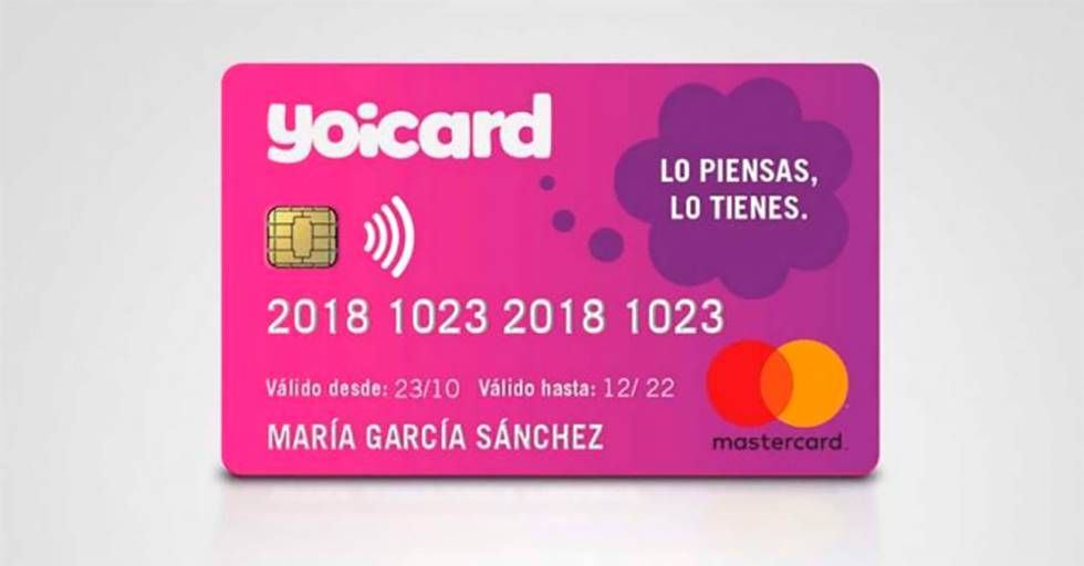 Yoicard tarjeta crédito Yoigo