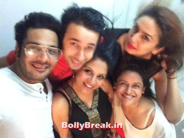 Mukesh Chhabra and Huma Qureshi with their friends, Bollywood Eid Celebration Pics 2014