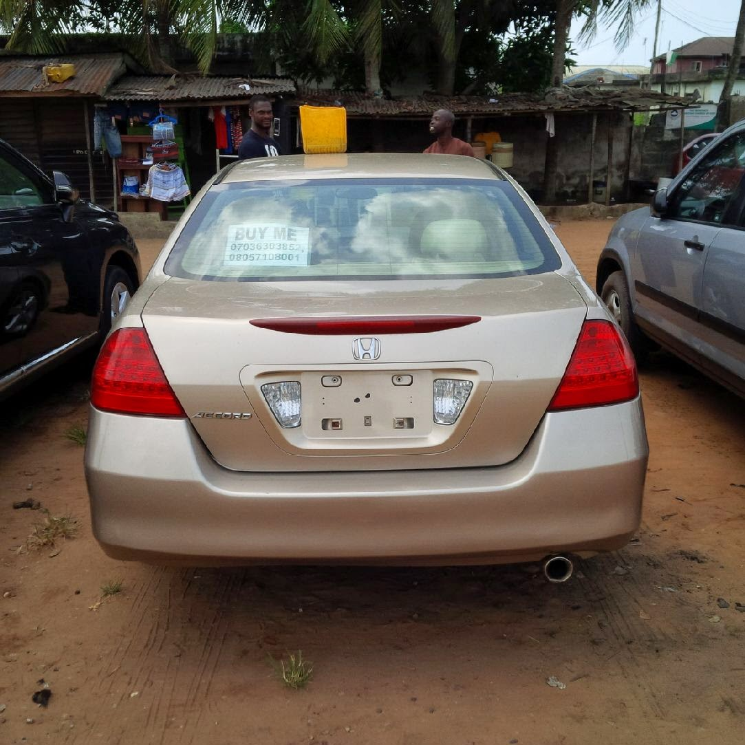 Super Clean Tokunbo Honda Accord 2007Model Discussion