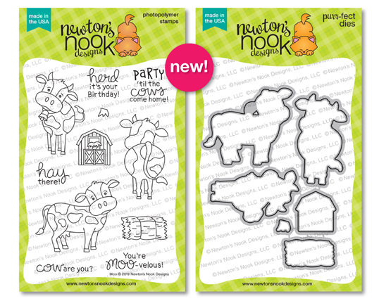 Moo | Cow Stamp Set by Newton's Nook Designs #newtonsnook