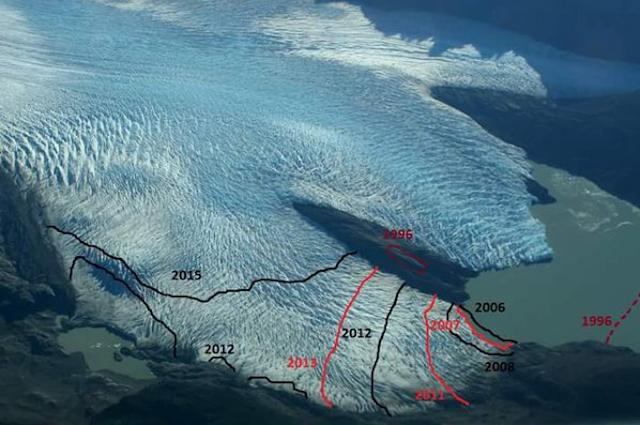 Evolución Glaciar Grey