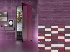 Diseños de baños en color morado - Colores en Casa