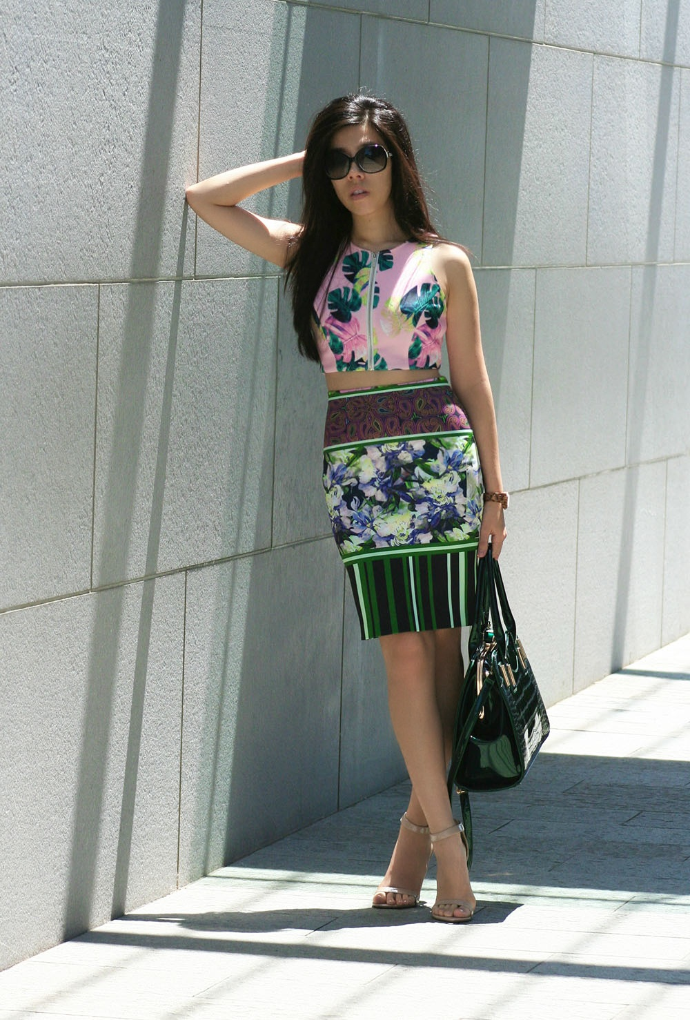 Adrienne Nguyen_Invictus_Bodycon_Neoprene Pencil Skirt_Neoprene Crop Top