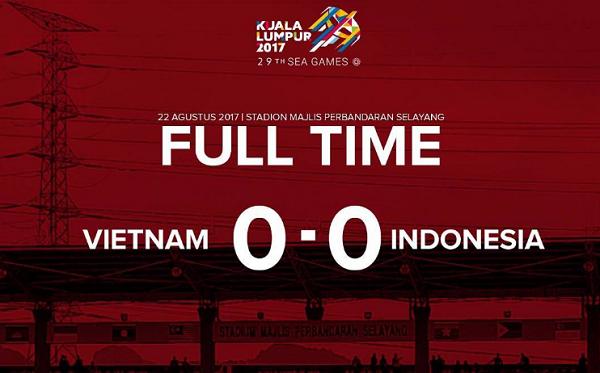Terus Digempur, 10 Pemain Indonesia Tahan Imbang Vietnam Tanpa Gol