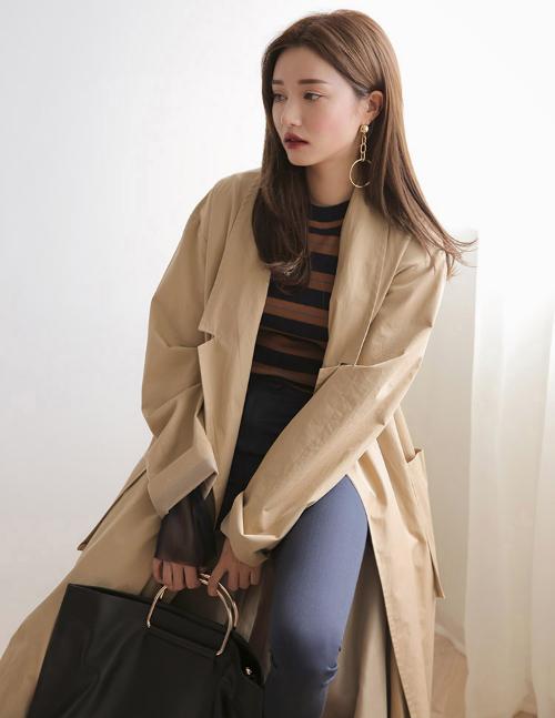 Long Wrap Coat