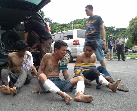 Tiga Penodong ditembak Polisi