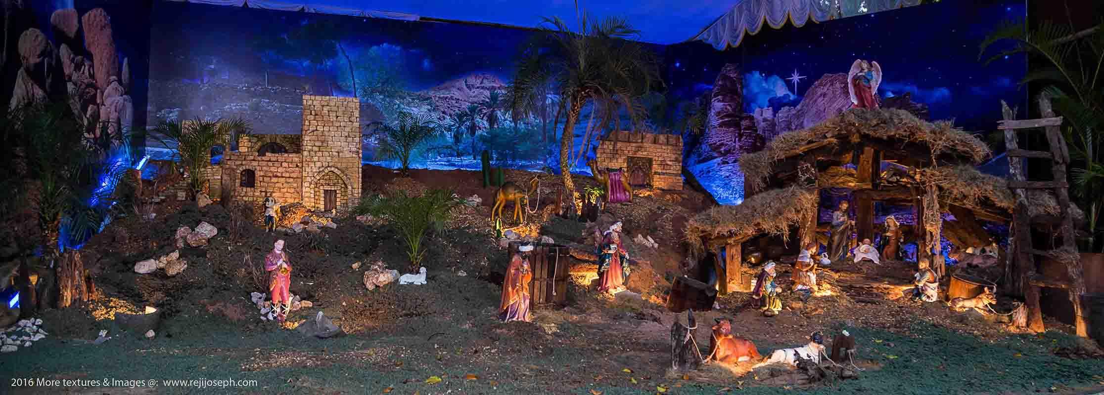 Christmas crib Pulkoodu St. Francis Assisi Cathedral Ernakulam 00001