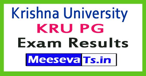 Krishna University KRU PG Exam Results 2017