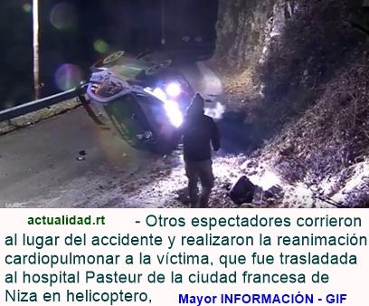 Un espectador muere en accidente en el Rally de Montecarlo (FUERTES IMÁGENES)