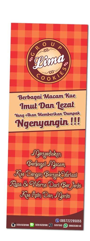 Desain Banner Toko Kue Dan Makanan Ringan Percetakan Tiket