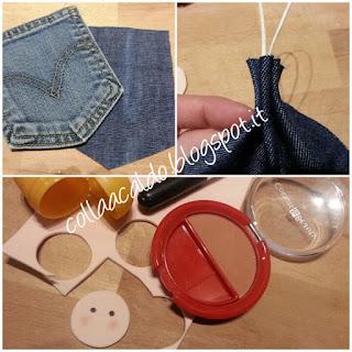 Angioletto Albero di Natale in jeans tutorial
