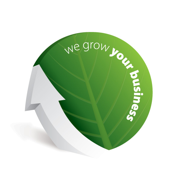 we grow your business green leaves free vector