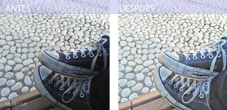 Vsco Cam antes y después