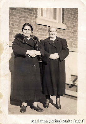 Marian [or Mary or Marianna] (Reina) Maita, on the right, and an unidentified friend or relative. Collection of E. Ackermann, 2017.