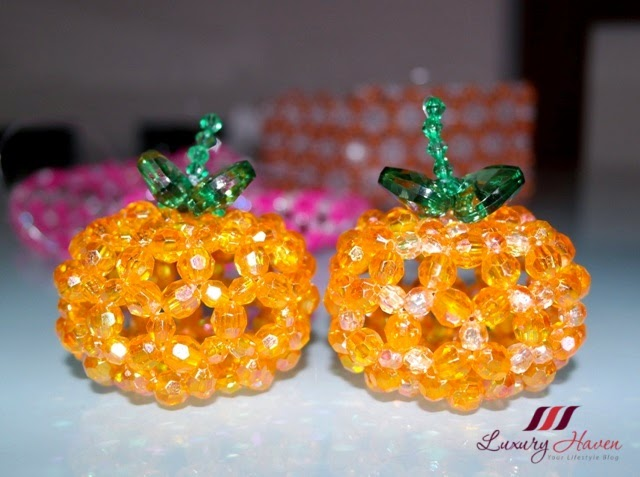 chinese new year handicrafts diy crystal mandarin oranges