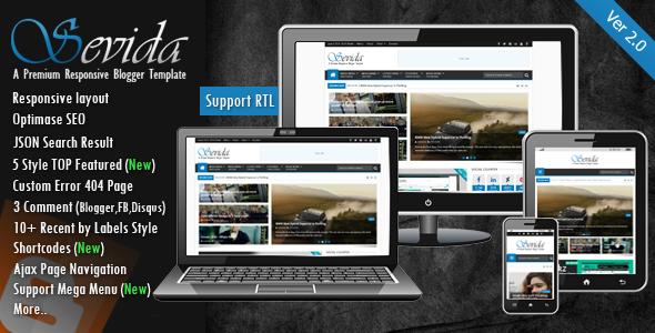 Download Free Sevida Responsive Magazine Blogger Template