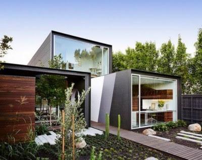 ide Tampak Depan Rumah Minimalis modern 2 Lantai