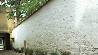 Pueblos con encanto y macetas en el suelo. Rubielos de Mora en Teruel