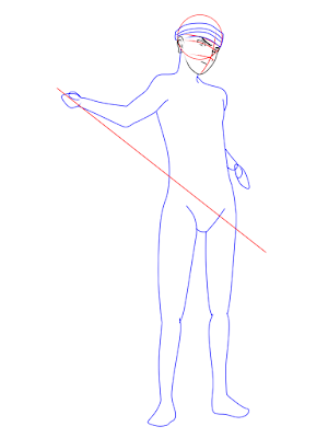 menggambar sasuke uchiha black costume langkah 10
