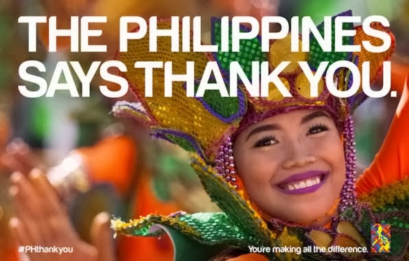 The Philippines says Thank You to the world