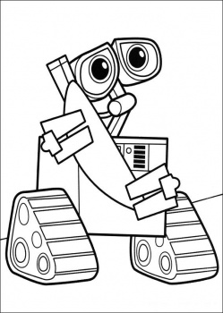 Cute Wall-E Coloring Pages