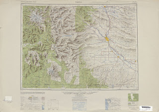 maps of Yakima 1949 United Stats 250000