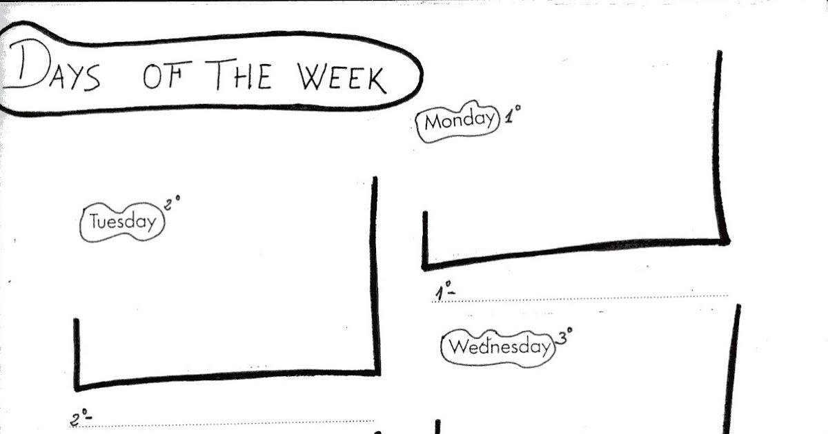 Fichas de inglés: Ficha Days of the week 1: Days of the
