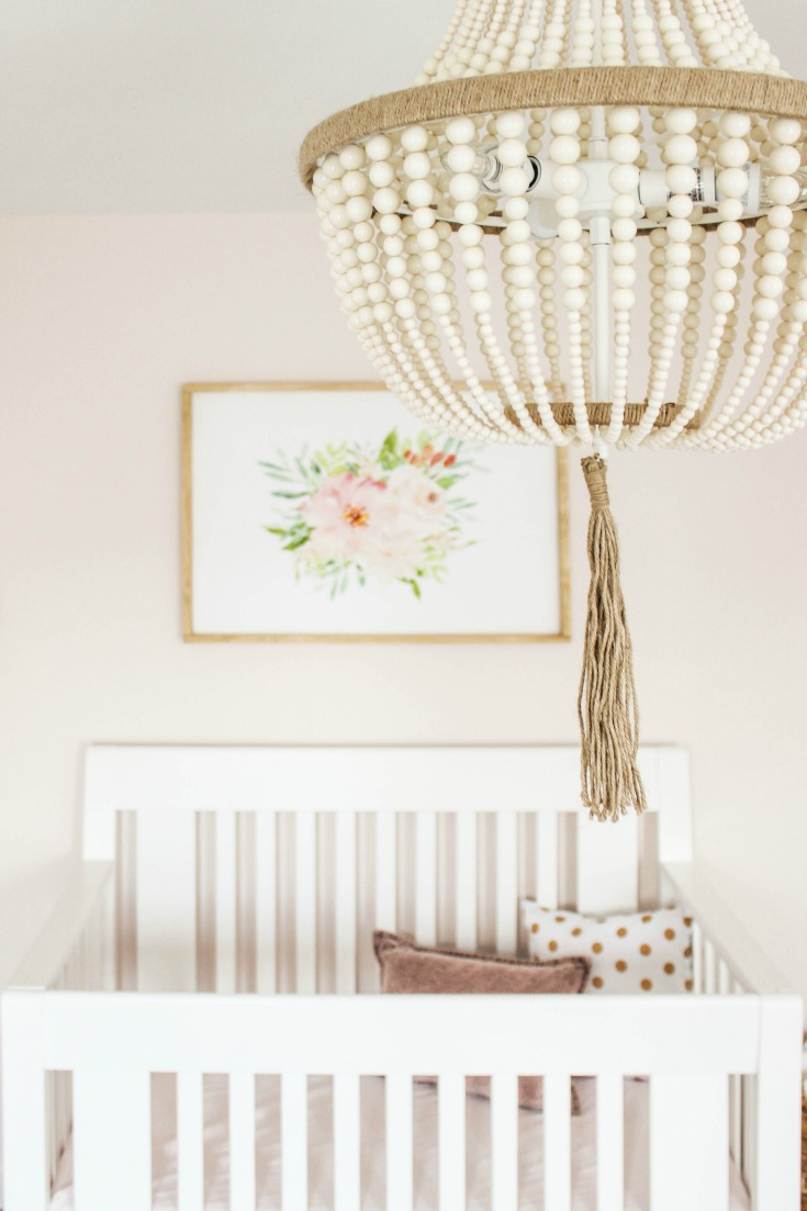 beaded chandelier nursery