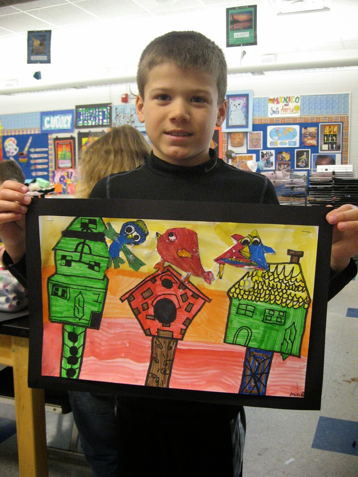 Jamestown Elementary Art Blog 2nd Grade Architecture Birdhouses