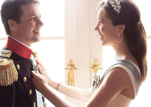 Crown Prince Frederik and Crown Princess Mary's 12th wedding anniversary.