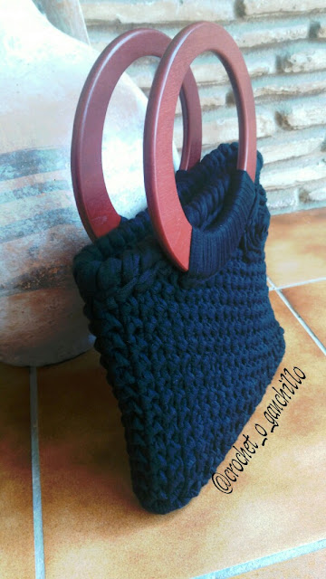 trapillo, bolso, ganchilo, crochet