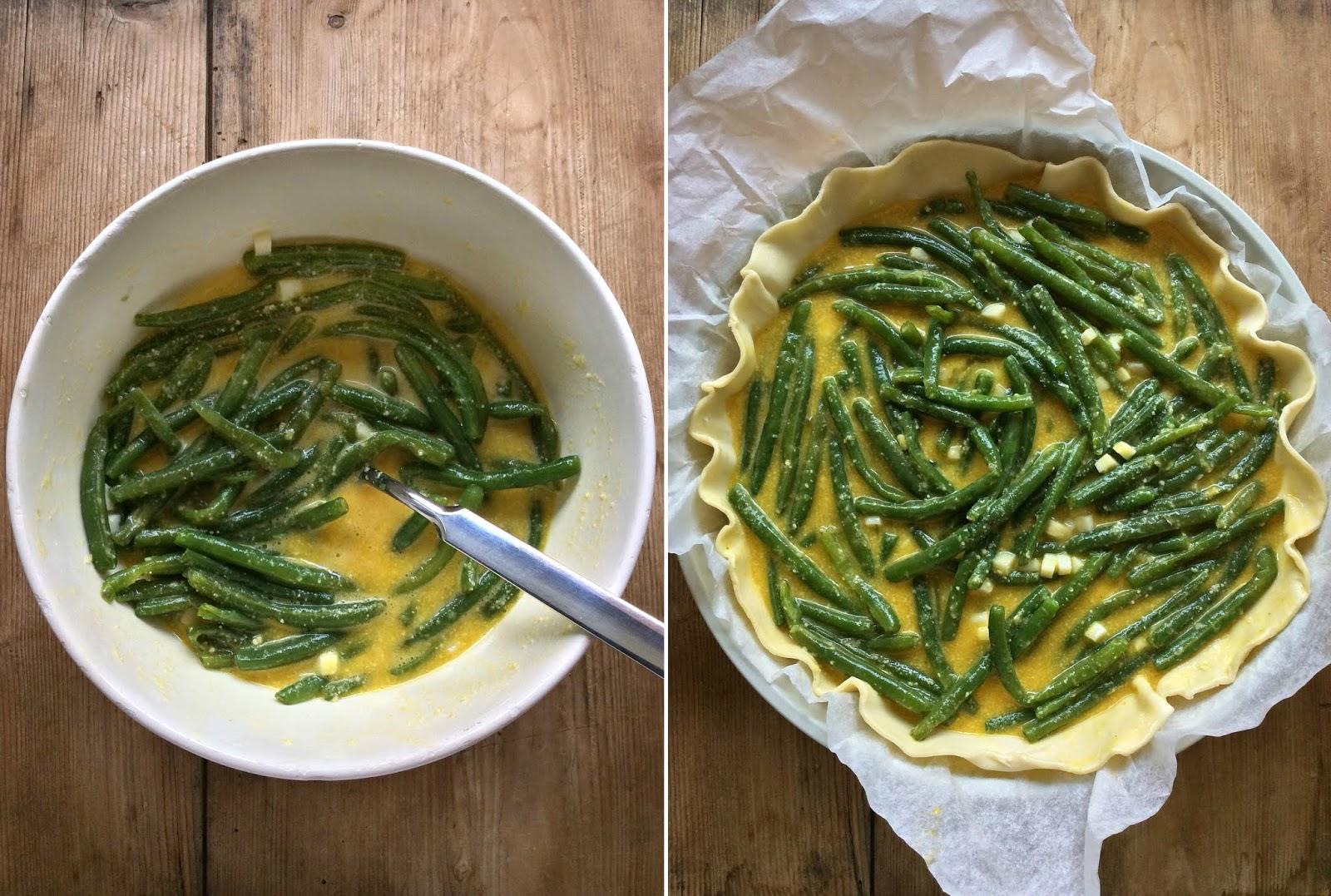 ricette torte salate con i fagiolini