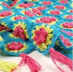 Manta hexágonos a Crochet