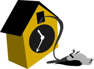 Cuckoo Clock by rones from https://openclipart.org/detail/219786/cuckoo-clock