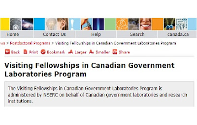 Visiting Fellowships in Canadian Government Laboratories Program