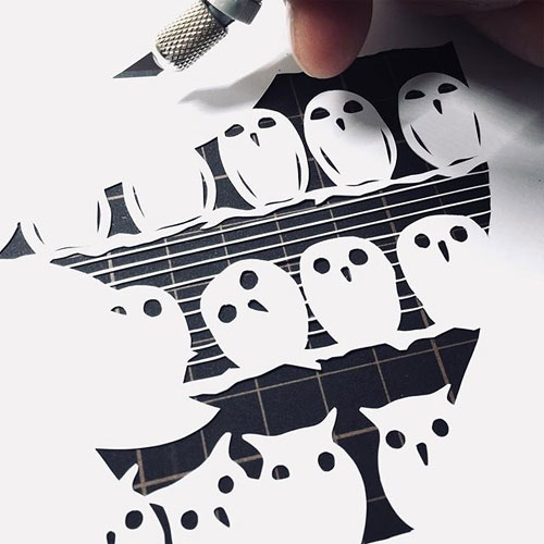 d86b51f45bc8 Japanese artist Mr. Riu creates papercut artwork with intricate details  completely by hand using only a craft knife. His work primarily consists of  delicate ...