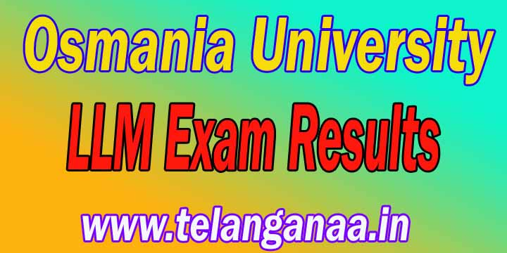 Osmania University LLM Exam Results Download