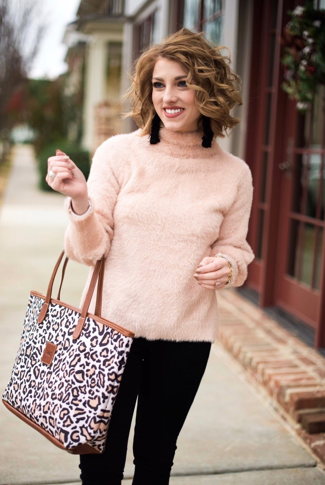 Black & Pink Winter Look - SOMETHING DELIGHTFUL BLOG