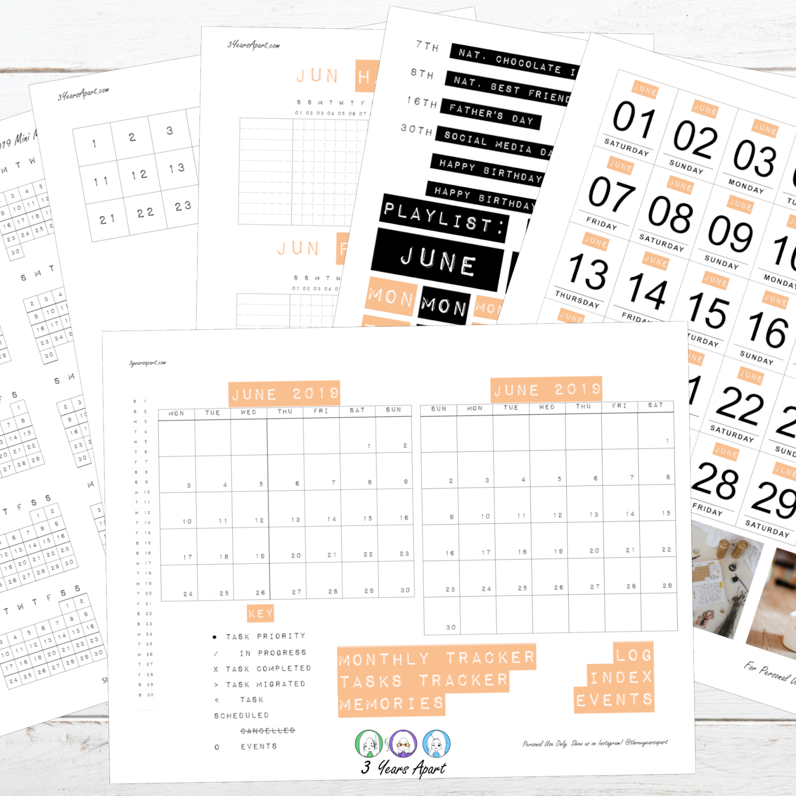 photo about Free Printable Bullet Journal identify June 2019 Bullet Magazine Deal No cost Printable for Bullet