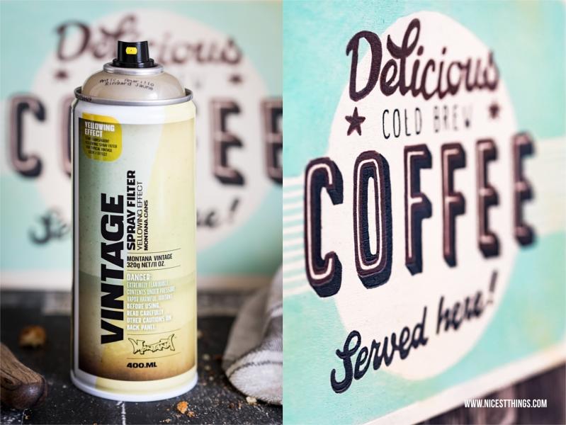 Smeg Kühlschrank Rafaello : Diy retro schild selber machen mit vintage spray von montana cans