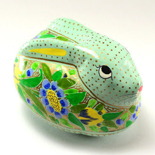 Rabbit Box from Dogwood Hill Gifts, made from papier mache