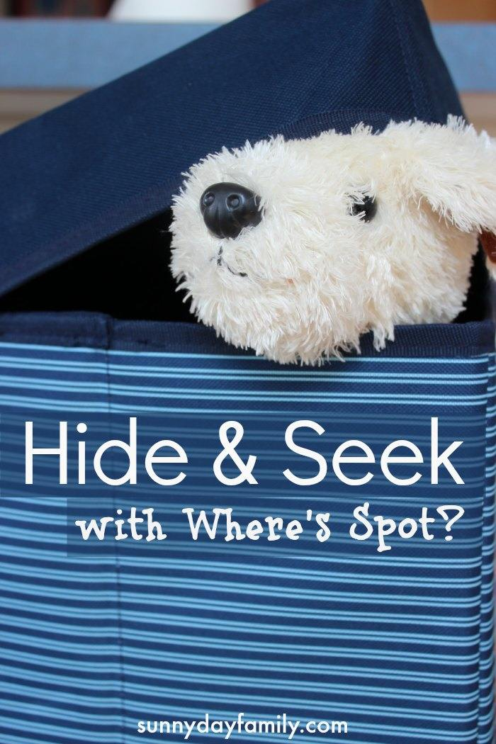 Play Hide & Seek with Where's Spot - a no set up indoor activity to get toddlers moving and burn off some energy!