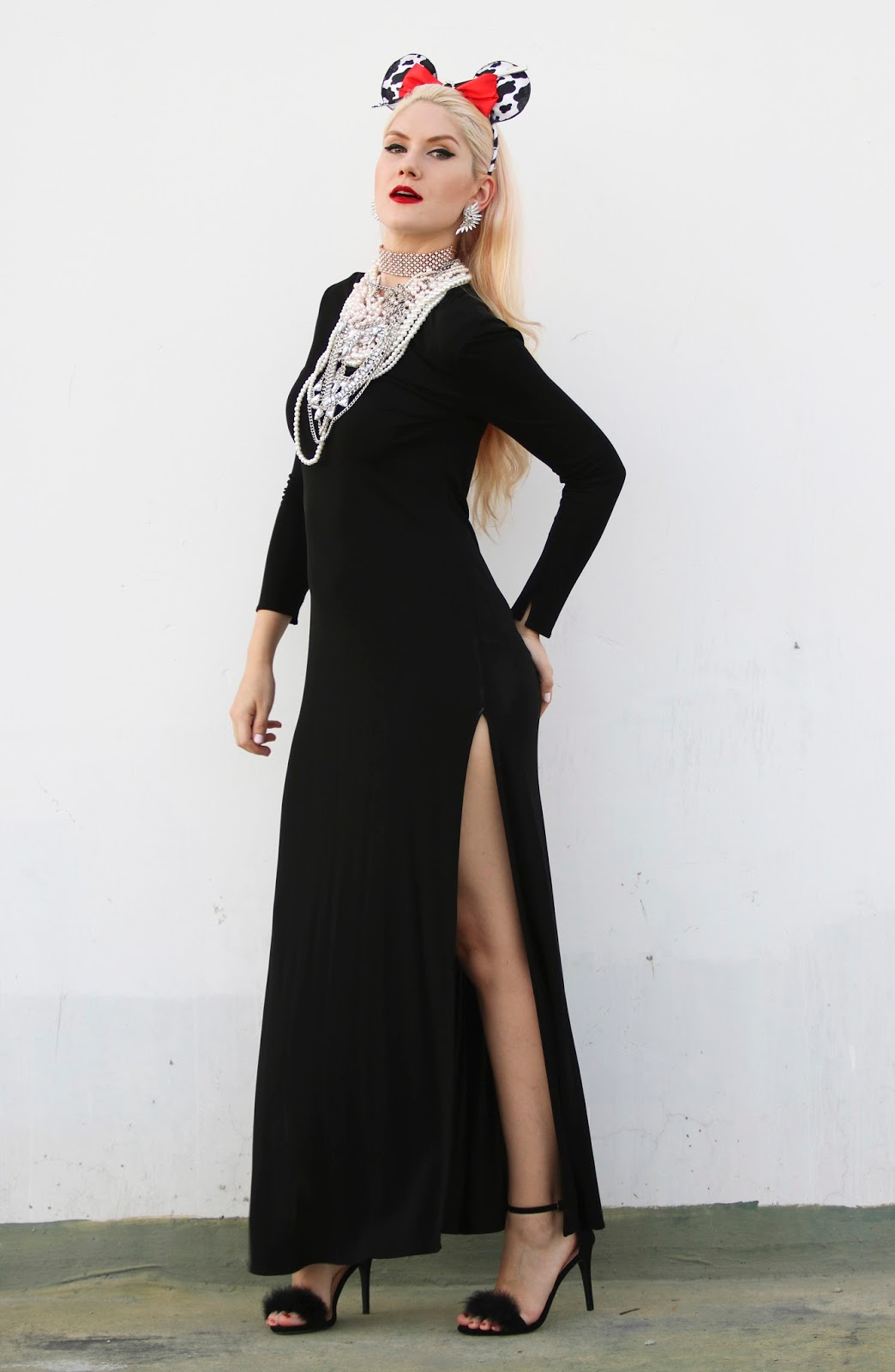 Cruella De Vil inspired outfit