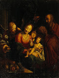 The Holy Family by Aachen Hans Van - Religious Paintings from Hermitage Museum