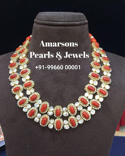 Coral Polki Necklace by Amarsons