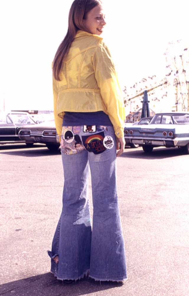 Sunny Days Girls And Blue Jeans Patches In The 1970s