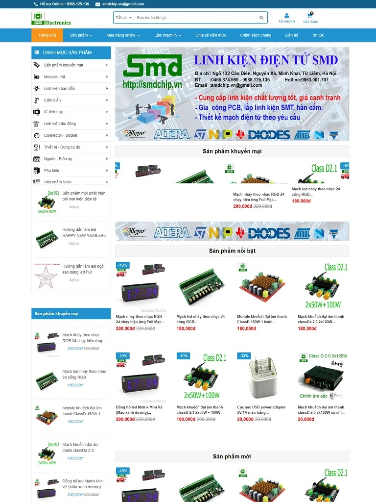 Template blogspot bán hàng linh kiện điện tử đẹp